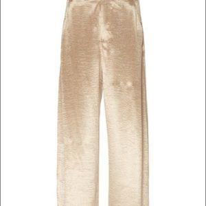 Louden for Laura Petites Vintage Gold Linen Pants 90s wide legged